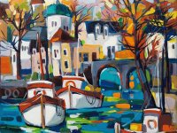Boats in Paris by Isabel Le Roux