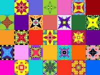 Color Squares with Semi-Stars