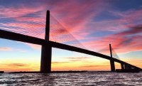 Skyway Bridge sunset st. petersburg Fl.