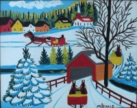 Covered Bridge by Maud Lewis