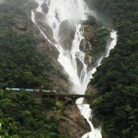 Catarata de Dudhsagar. India