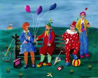 The Clowns by Sandy Wager