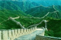 Long view of the Great Wall of China6666
