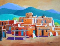 South Pueblo Taos  by Wallace Hughes