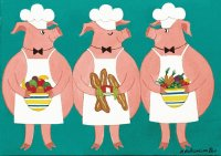 Cooking Pigs by Patricia Palermino