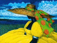 Lady with yellow Dress