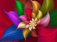 Colored Flower