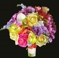 Bouquet  Roses - Orchids and Callas