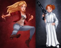 Alice as Buffy   Wendy as Leia