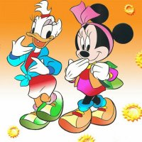 Donald Duck and Minnie