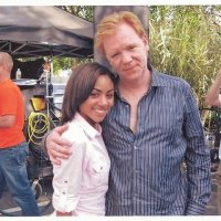 DAVID CARUSO ON THE SET OF CSI MIAMI