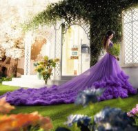 Dreamy Purple Wedding Dress