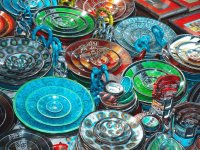 Colorful Soap Stone Plates