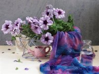 Beautiful Petunia Still Life- Art