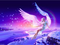 Fantasy Floating Angel-Art