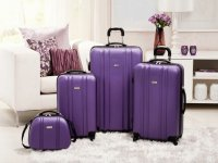 Purple Pearl Luggage Set