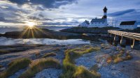 Tranoy Lighthouse, Hamaroy, Norway
