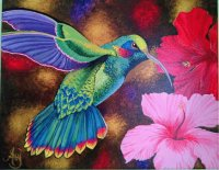 Hummingbird Painting
