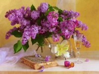 Precious Lilac Display-Still Life