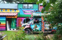 Psychedelic Farm House and Van