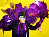 Mardi Gras Peacock Feathered Costume