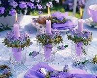 Pretty Lavender Candle Holders