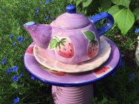 Pretty Garden Tea Pot Totem