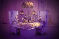 Lavish Table Setting with Floral Bouquets