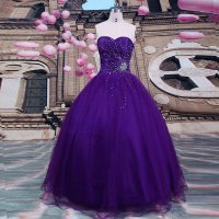 Gorgeous Deep Purple Ball Gown