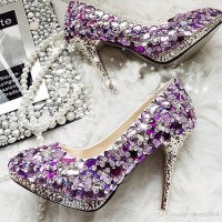 Dazzling Crystal High Heel Shoes