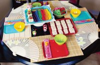 Colorful Japanese Party Table