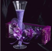 Decorative Scented Candle in Glass Flute