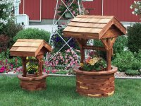 Wishing Well Garden Planters