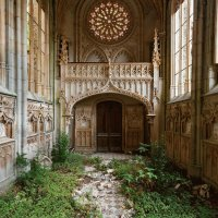 abandoned church, France