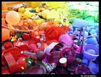 Display of Colorful Plastic Items-Pop Art