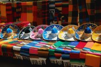 Colorful Mexican Hats and Shawls