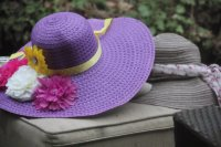 Pretty Decorated Purple Hat