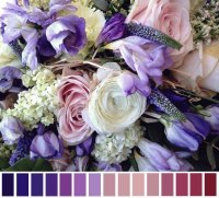 Blending of Pastel Flowers