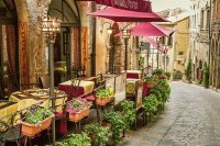 Quaint Outdoor Restaurant-Italy