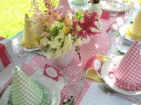 Pretty Gingham Party Table