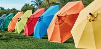 Colorful Patio Umbrellas
