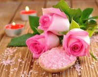 Pretty Pink Roses and Bath Salts