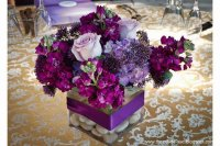Pretty Purple Floral Centerpiece