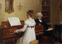 E B Leighton - Singing to the Reverend