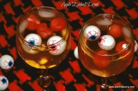 Creepy Apple Eyeball Drinks
