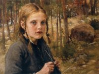 Elin Danielson-Gambogi A Girl Knitting Socks