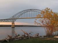 Sunset on Centennial Bridge in Miramichi NB Canada