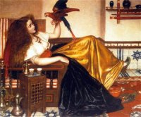 V. Cameron Prinsep- Woman Recyling with a Parrot