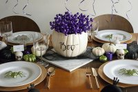 Elegant Halloween Party Table-BOO!!