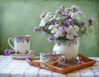 Pretty Tea Setting-Still Life